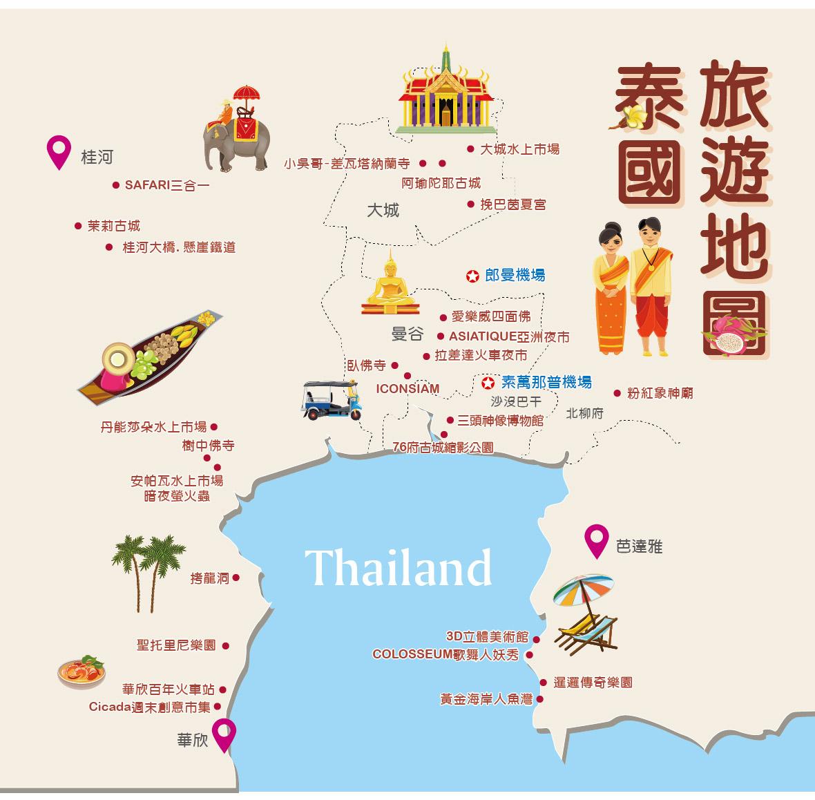 泰國旅遊地圖